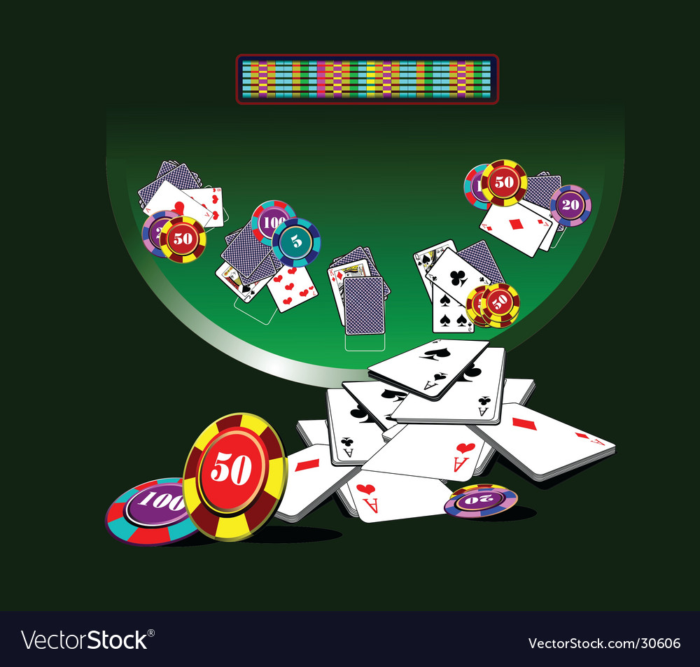 Blackjack table vector | Price: 1 Credit (USD $1)