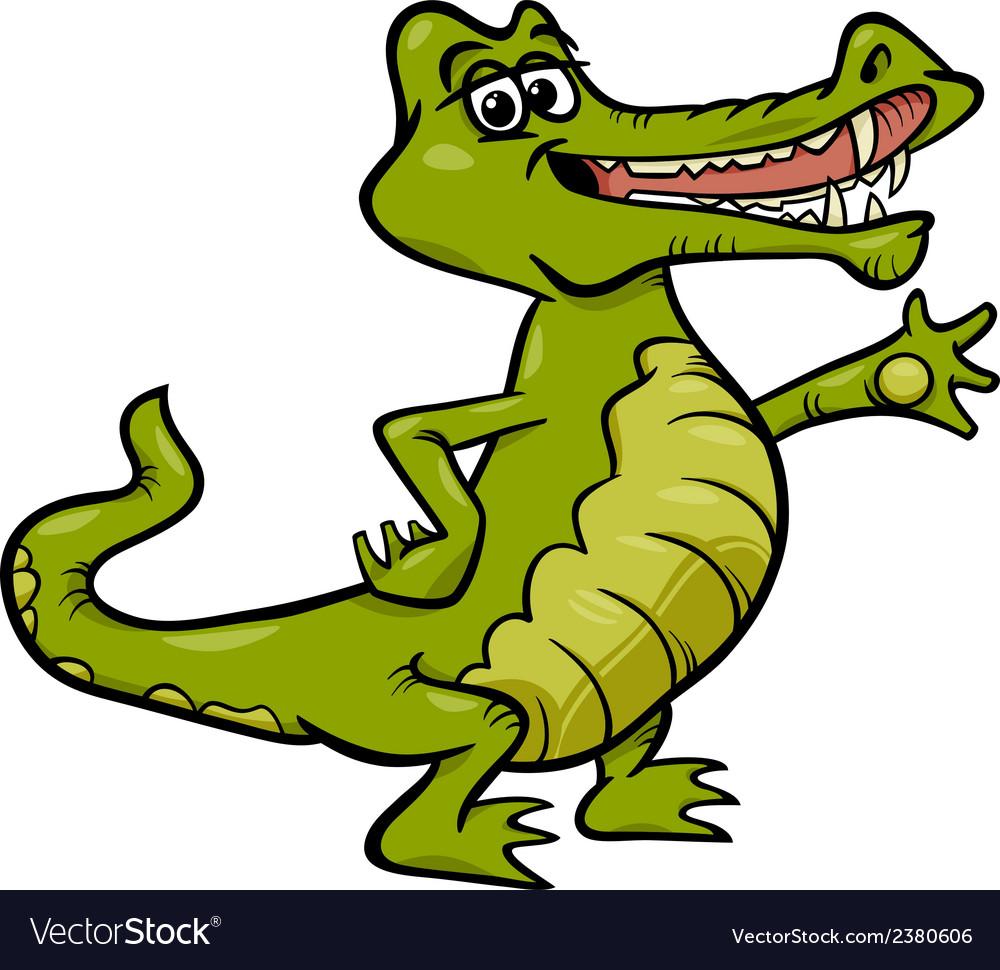 Crocodile animal cartoon vector | Price: 1 Credit (USD $1)