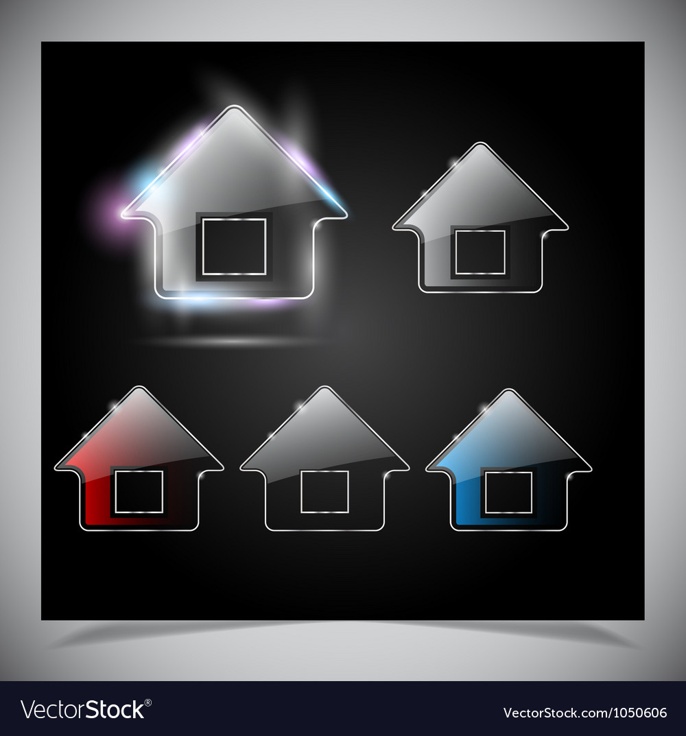 Glass house icon vector | Price: 1 Credit (USD $1)