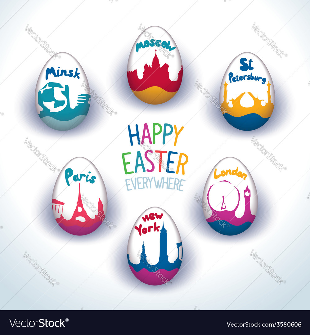 Holiday easter everywhere set vector | Price: 1 Credit (USD $1)