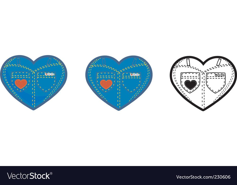 Jean heart vector | Price: 1 Credit (USD $1)