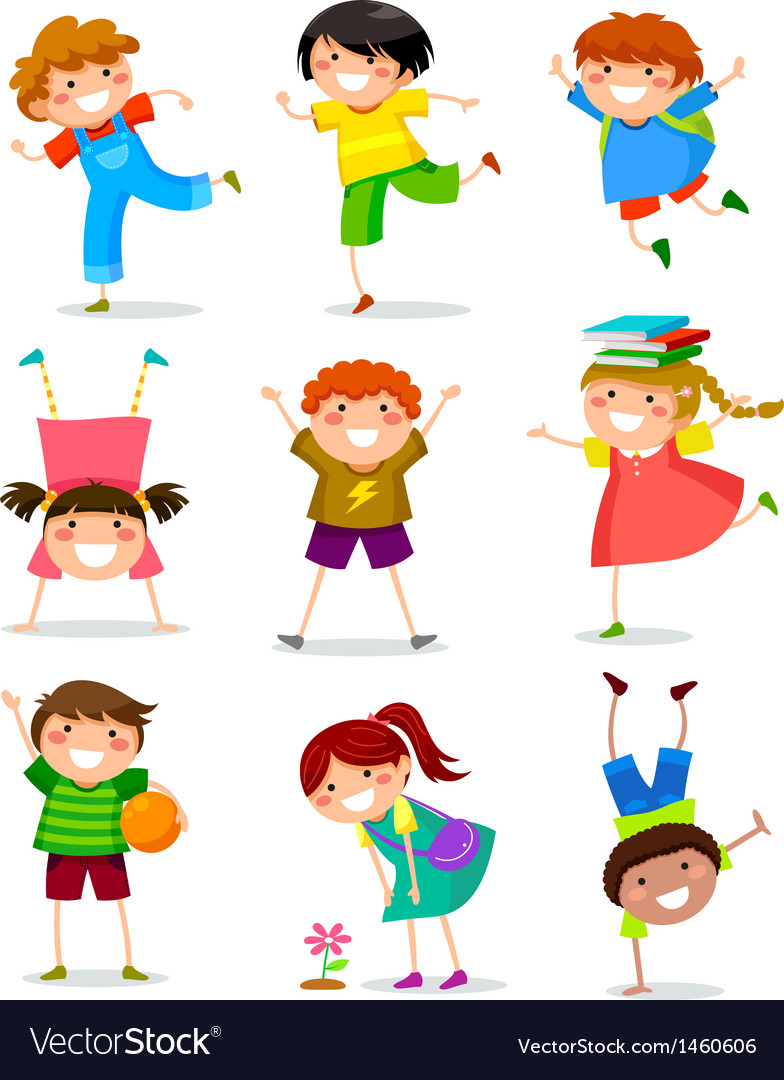 Kids collection vector