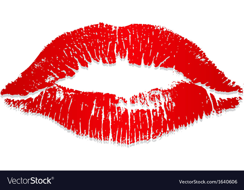Lips imprint vector | Price: 1 Credit (USD $1)