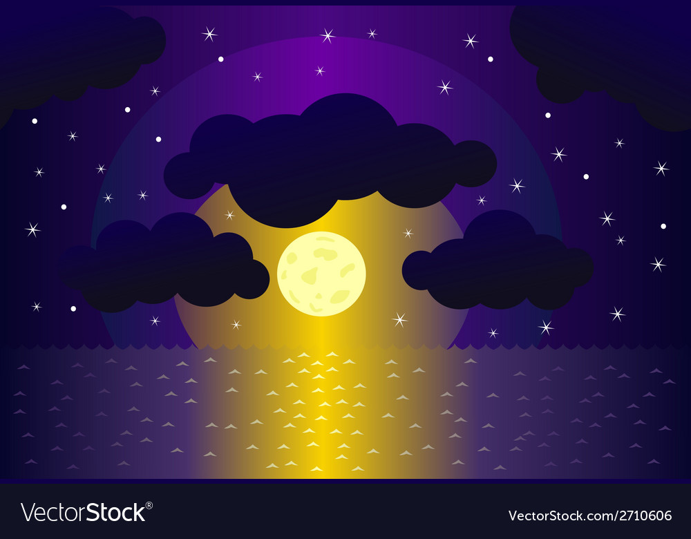 Night and water background vector | Price: 1 Credit (USD $1)
