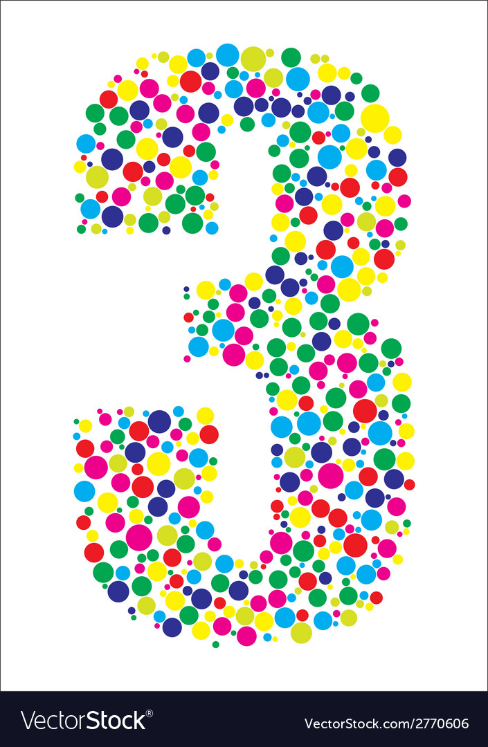 Number three vector | Price: 1 Credit (USD $1)