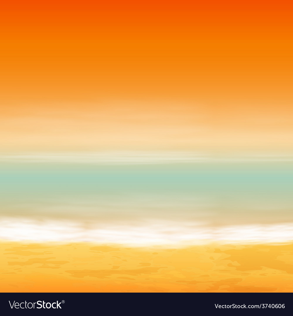Sea sunset vector | Price: 1 Credit (USD $1)