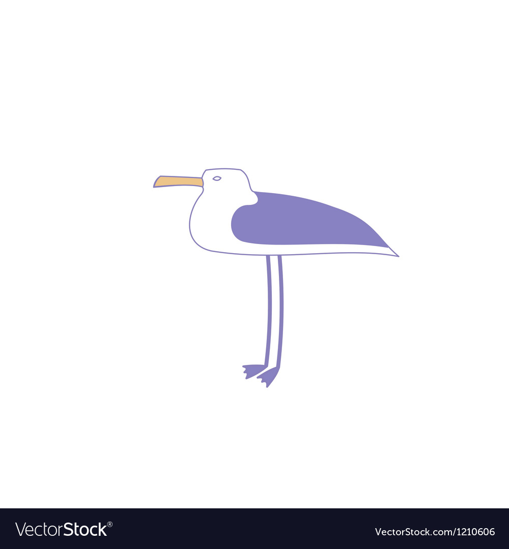 Seagull profile vector | Price: 1 Credit (USD $1)