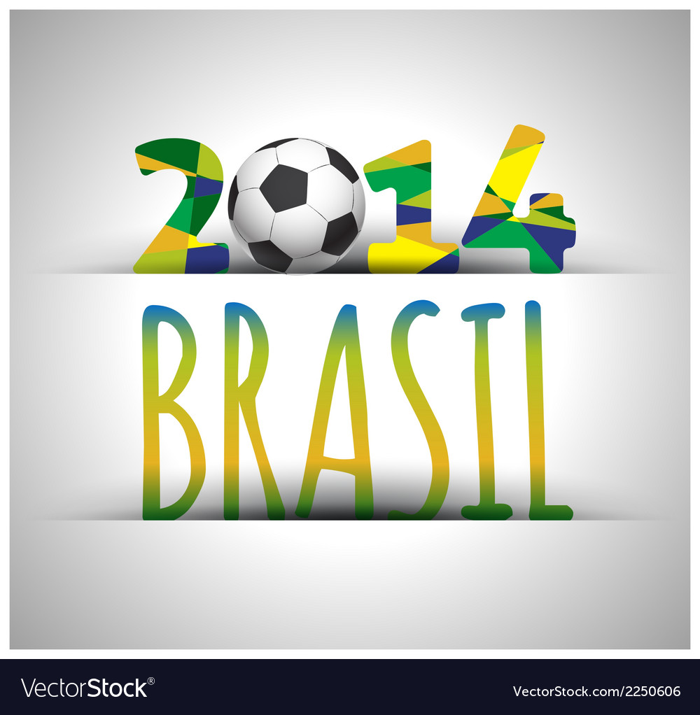 Soccer 2014 poster vector | Price: 1 Credit (USD $1)