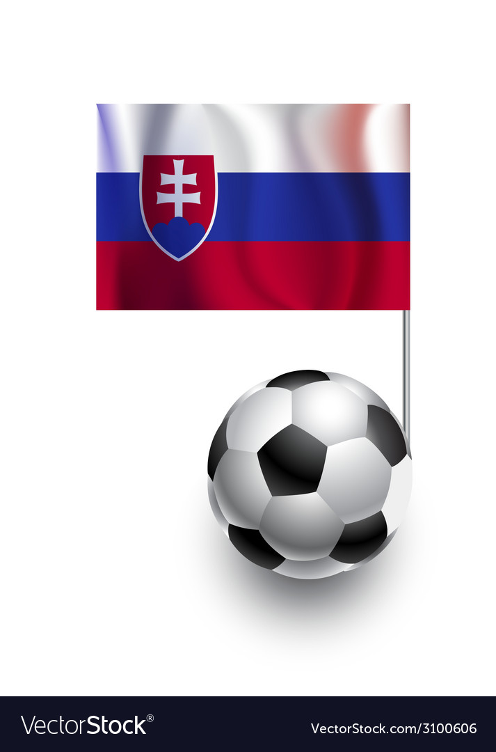 Soccer balls or footballs with flag of slovakia vector | Price: 1 Credit (USD $1)