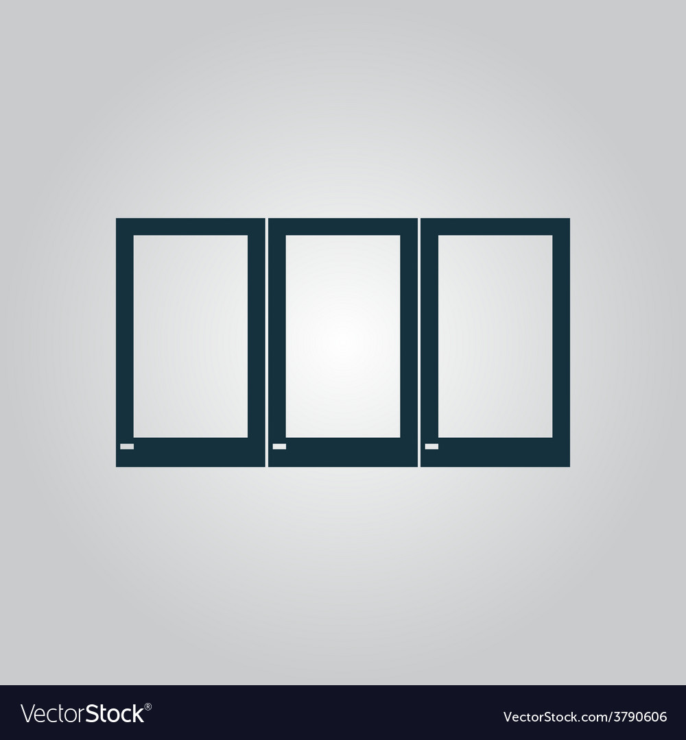 Three window icon sign and button vector | Price: 1 Credit (USD $1)