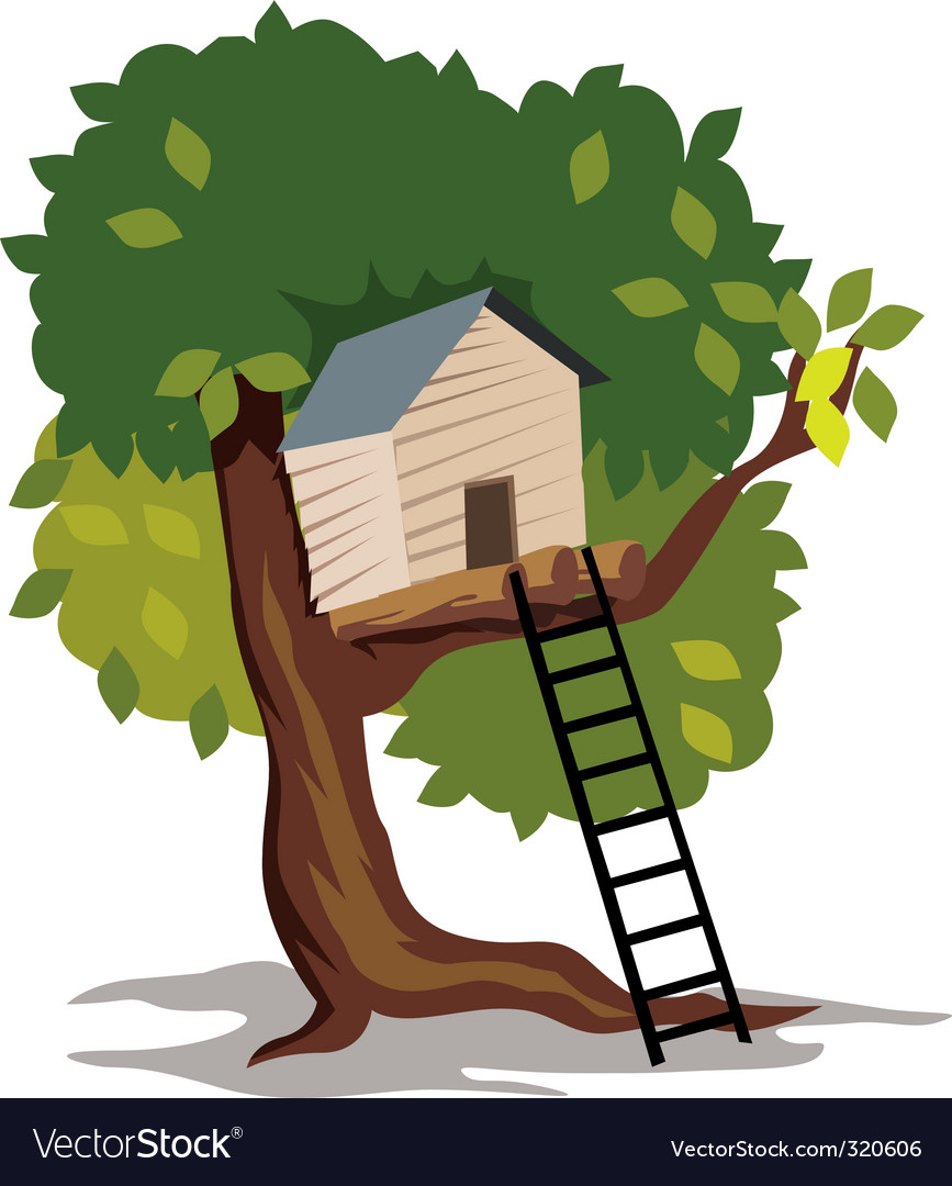 Tree hut vector | Price: 1 Credit (USD $1)