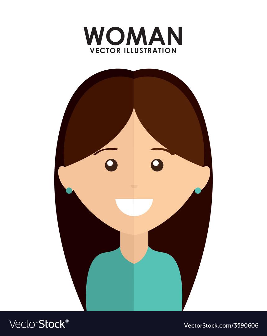 Woman avatar vector | Price: 1 Credit (USD $1)