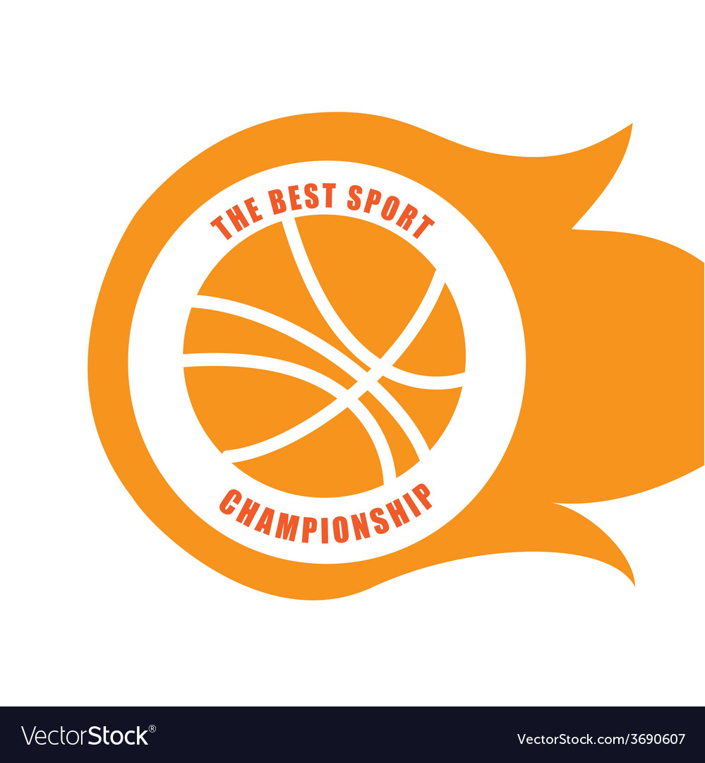 Basketball design over white background vector | Price: 1 Credit (USD $1)