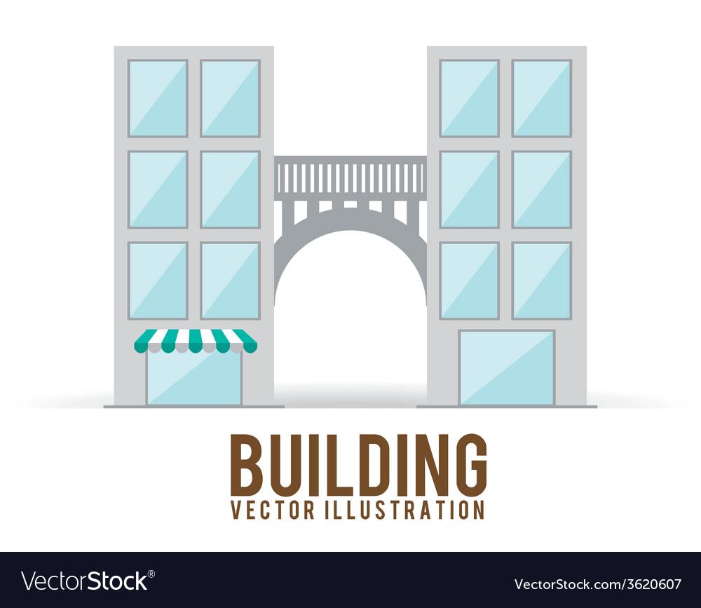 Building design vector | Price: 1 Credit (USD $1)