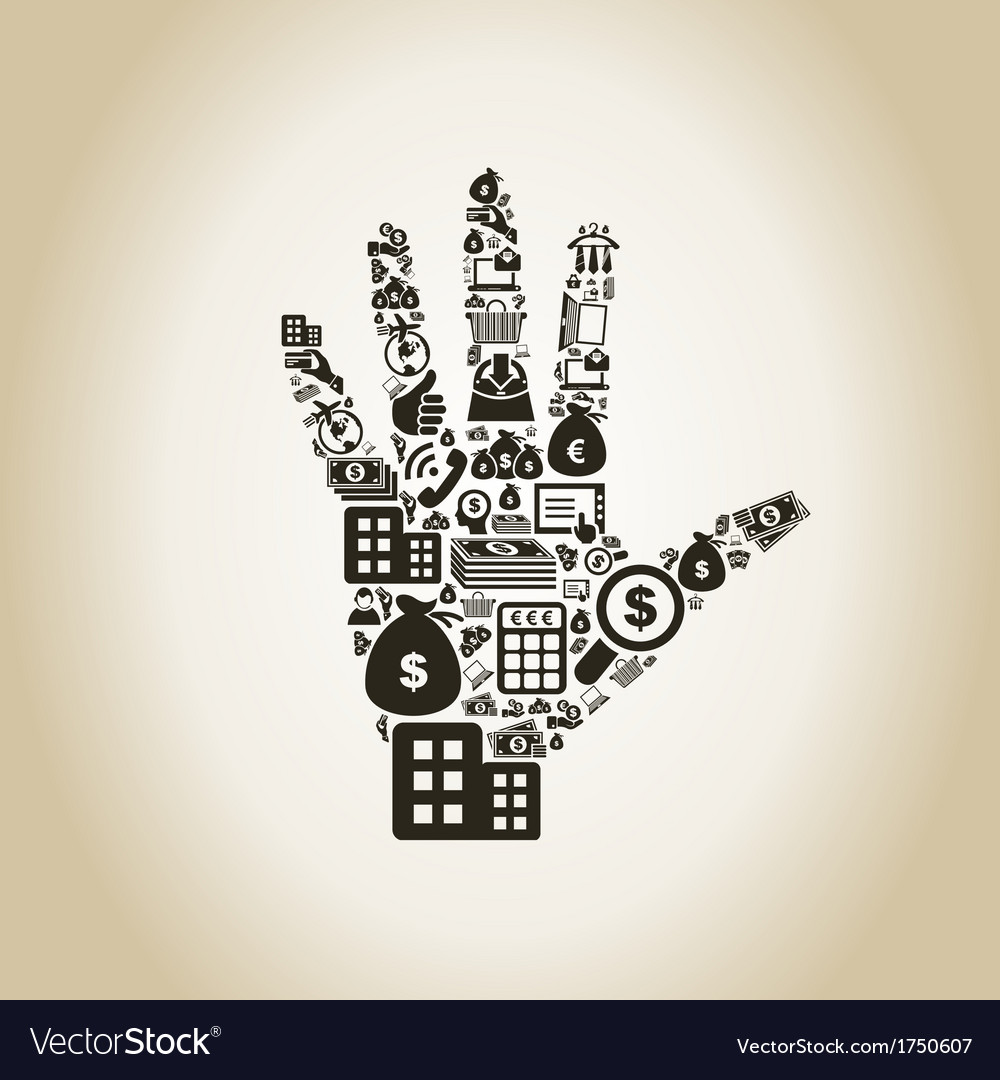 Business a hand2 vector | Price: 1 Credit (USD $1)