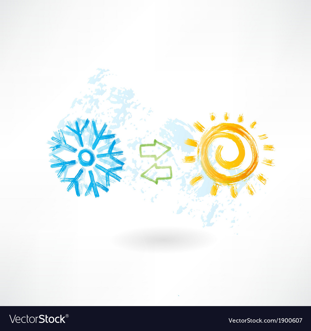 Climate control grunge icon vector | Price: 1 Credit (USD $1)