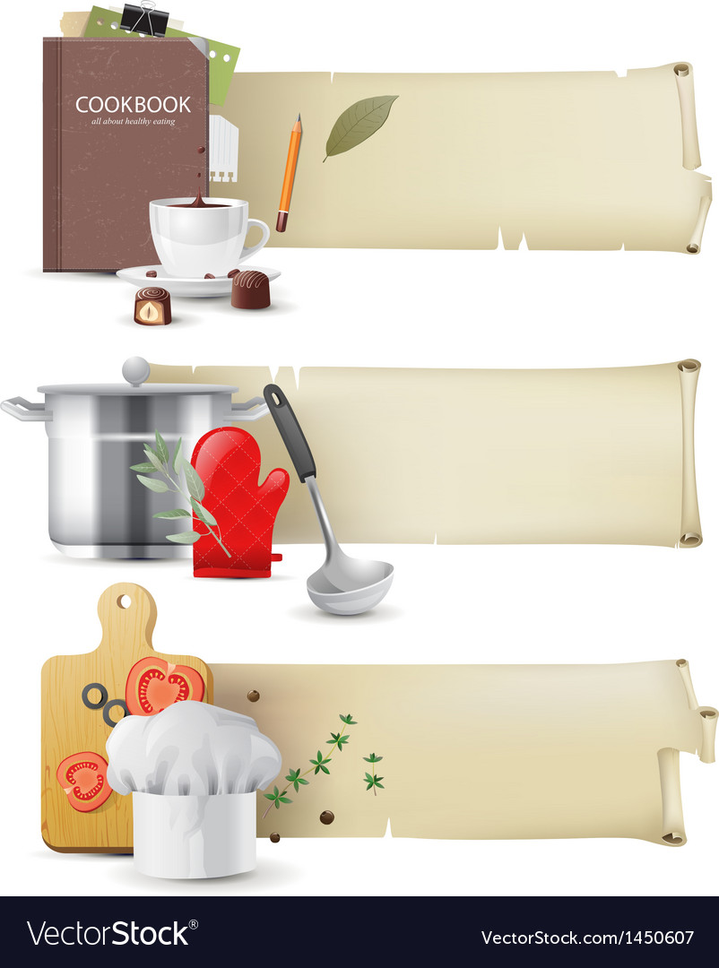 Cooking banners vector | Price: 3 Credit (USD $3)