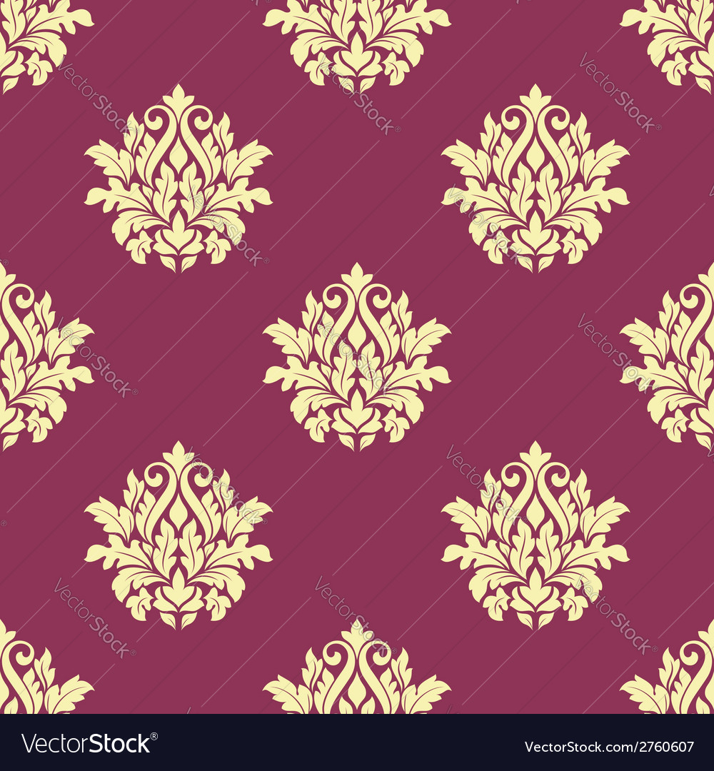 Floral yellow damask seamless patternon vector   Price: 1 Credit (USD $1)