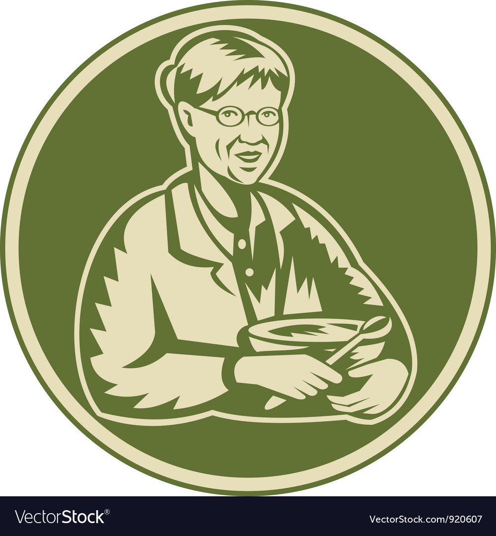 Granny grandmother cooking vector | Price: 3 Credit (USD $3)