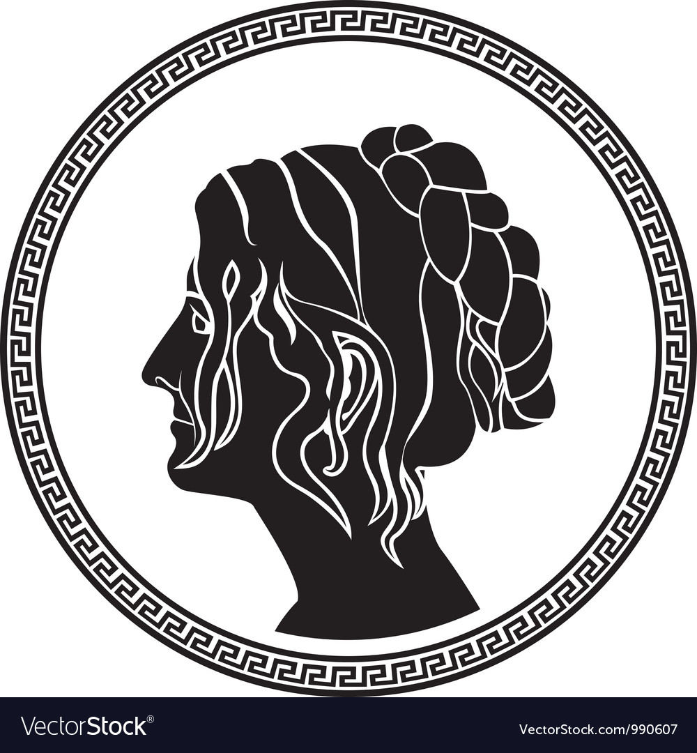 Greek woman stencil vector | Price: 1 Credit (USD $1)