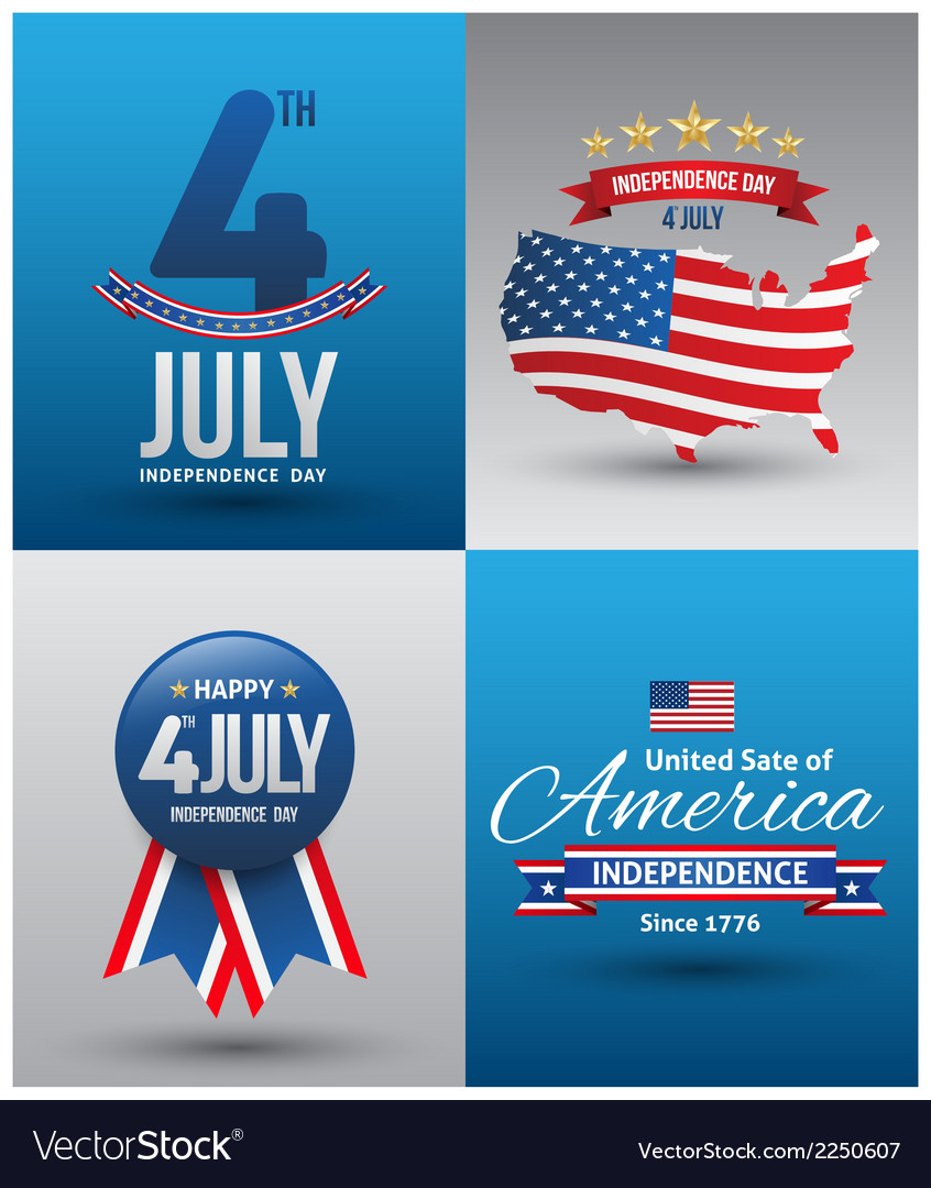 Happy independence day card vector | Price: 1 Credit (USD $1)