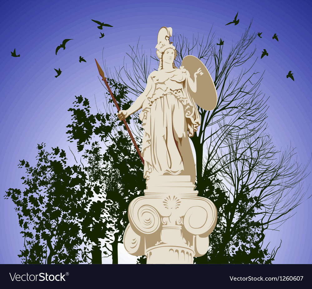 Historical statue of athena vector | Price: 1 Credit (USD $1)