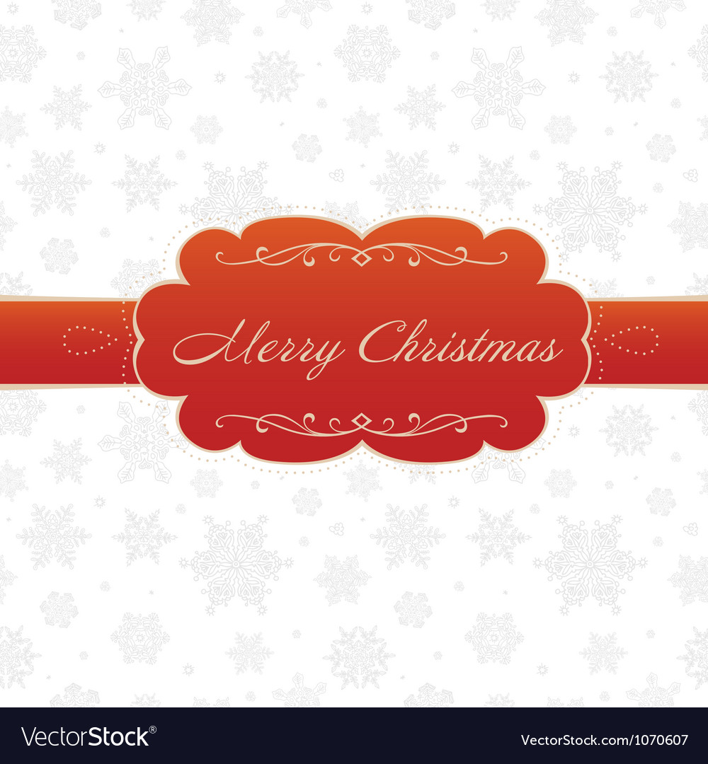 Merry christmas greeting card white vector | Price: 1 Credit (USD $1)