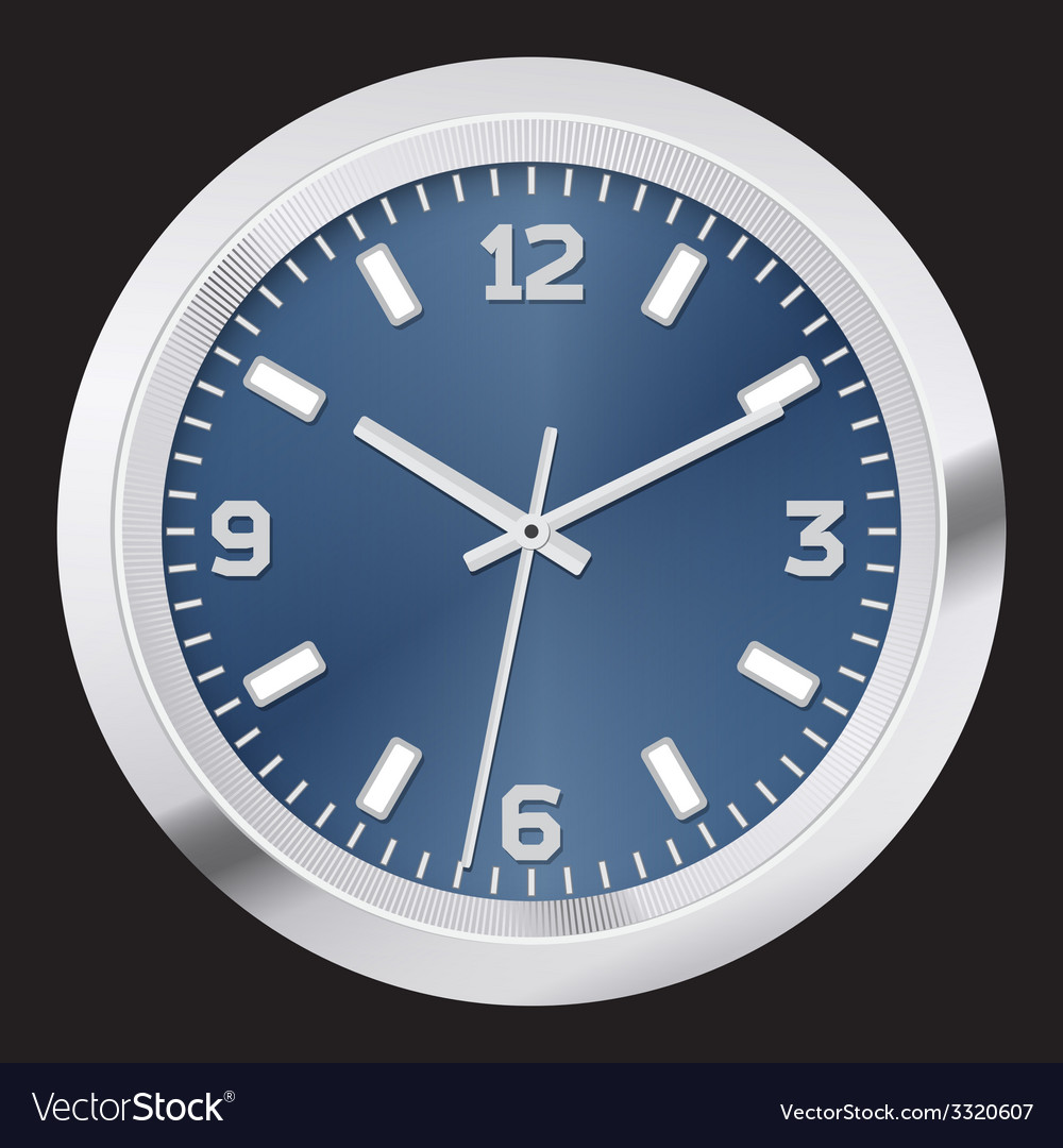 Modern clock vector | Price: 1 Credit (USD $1)