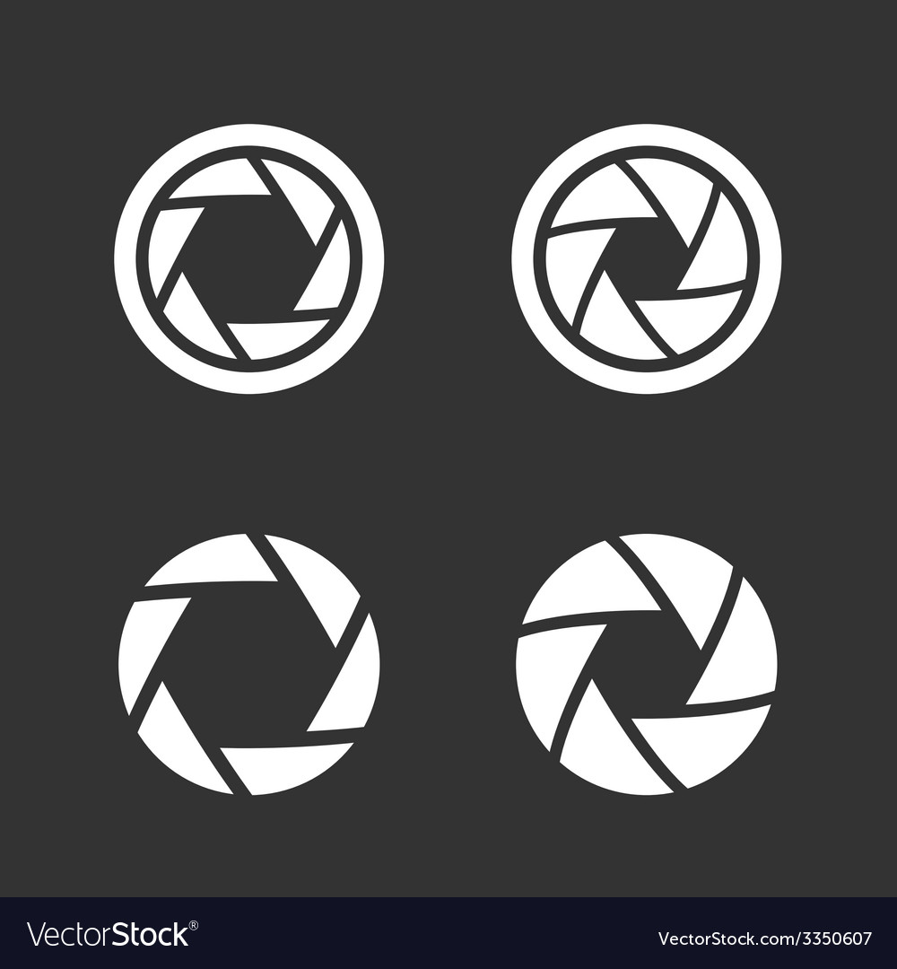 Shutter icons set vector | Price: 1 Credit (USD $1)