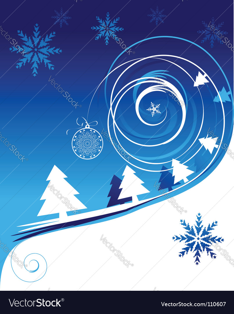Winter holiday christmas card vector | Price: 1 Credit (USD $1)