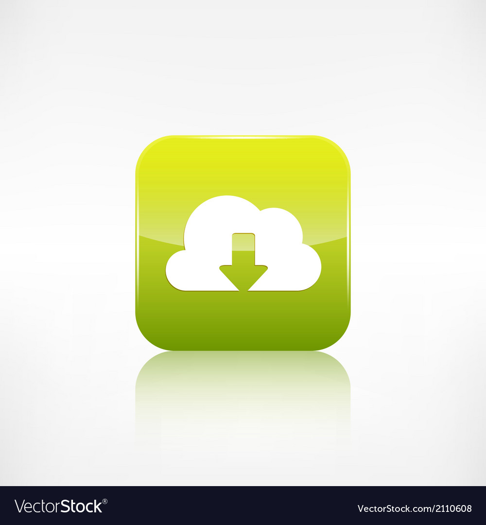 Cloud download icon application button vector | Price: 1 Credit (USD $1)