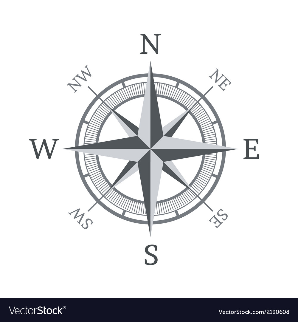 Compass icon isolated on white background vector | Price: 1 Credit (USD $1)