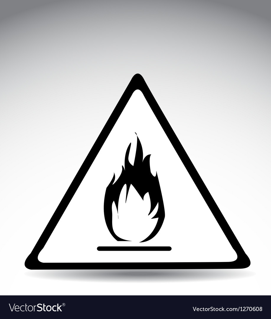 Flame warning sign vector