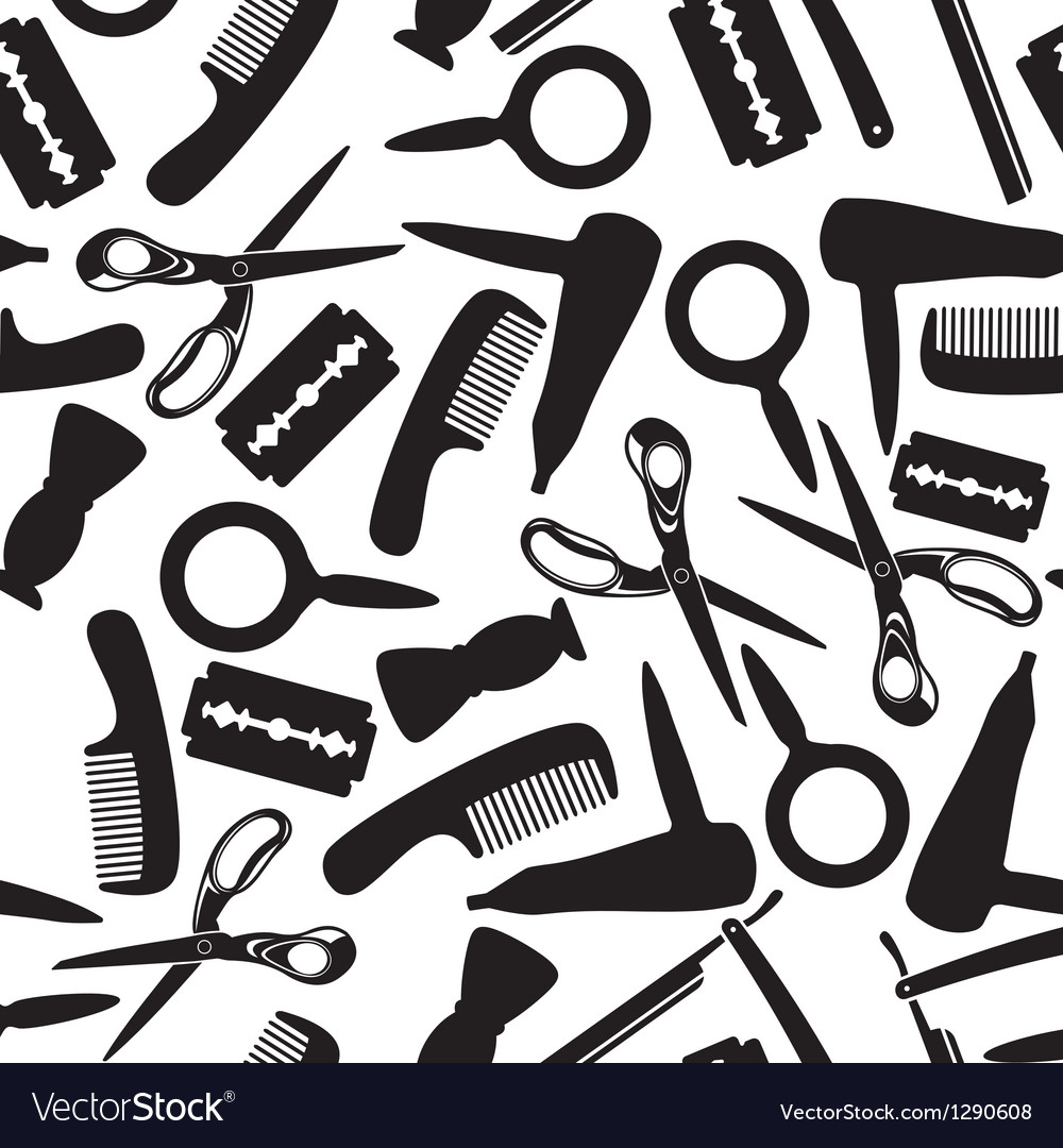 Hairdressing saloon background vector | Price: 1 Credit (USD $1)