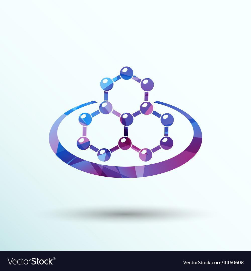 Icon molecular research chemistry model atom vector | Price: 1 Credit (USD $1)