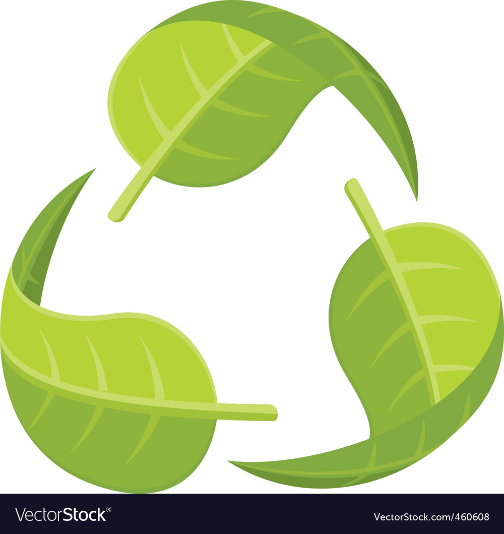 Leaf recycle logo vector | Price: 1 Credit (USD $1)