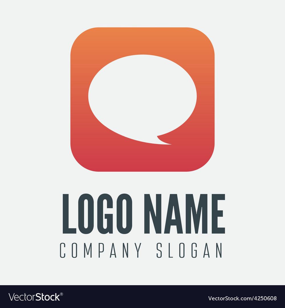 Logo label badge emblem or logotype element vector | Price: 1 Credit (USD $1)