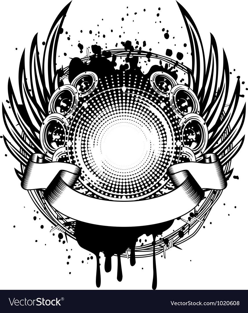 Loudspeakers and wings vector | Price: 1 Credit (USD $1)