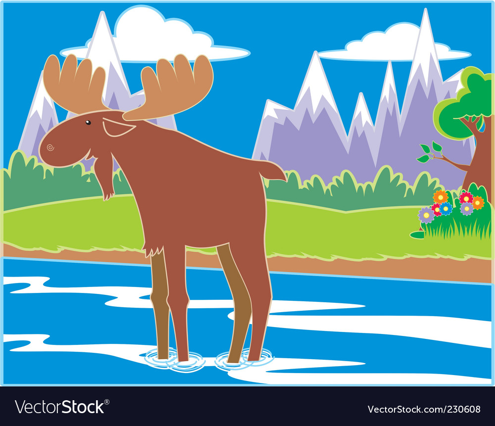 Moose vector | Price: 3 Credit (USD $3)