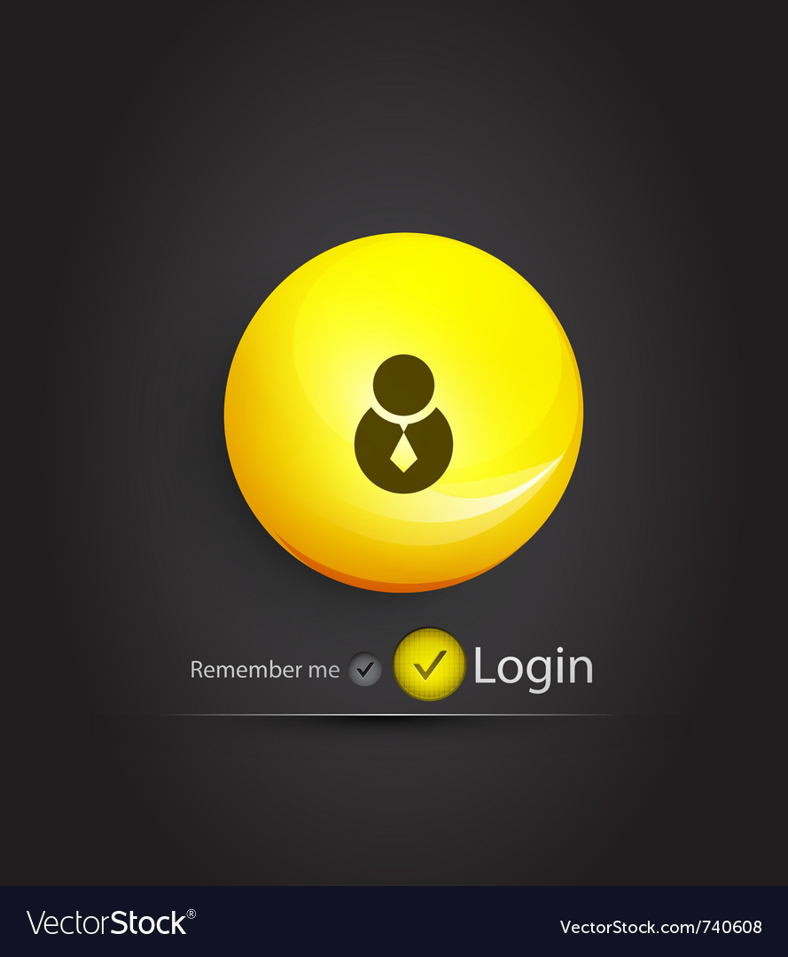 Sphere login page vector | Price: 1 Credit (USD $1)