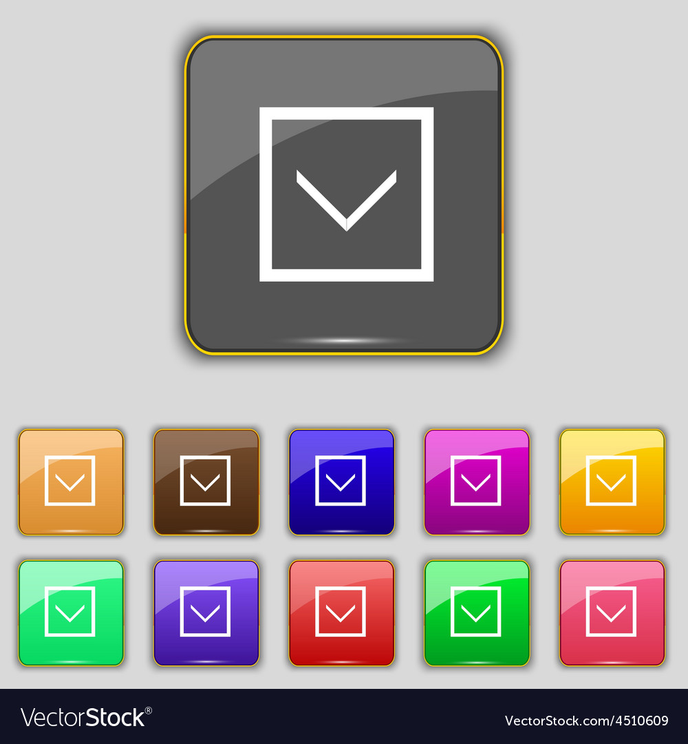 Arrow down download load backup icon sign set with vector   Price: 1 Credit (USD $1)