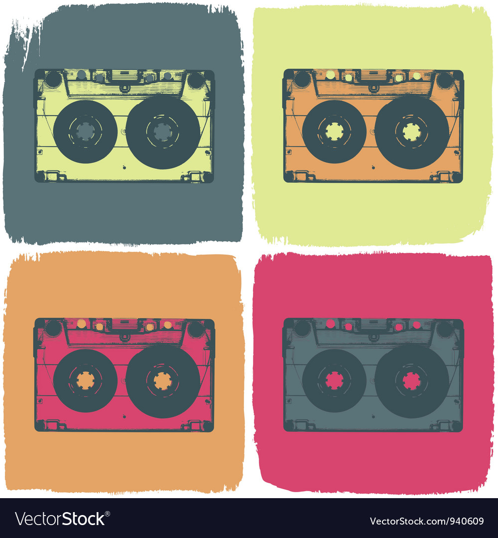Audio cassette pop art concept vector | Price: 1 Credit (USD $1)