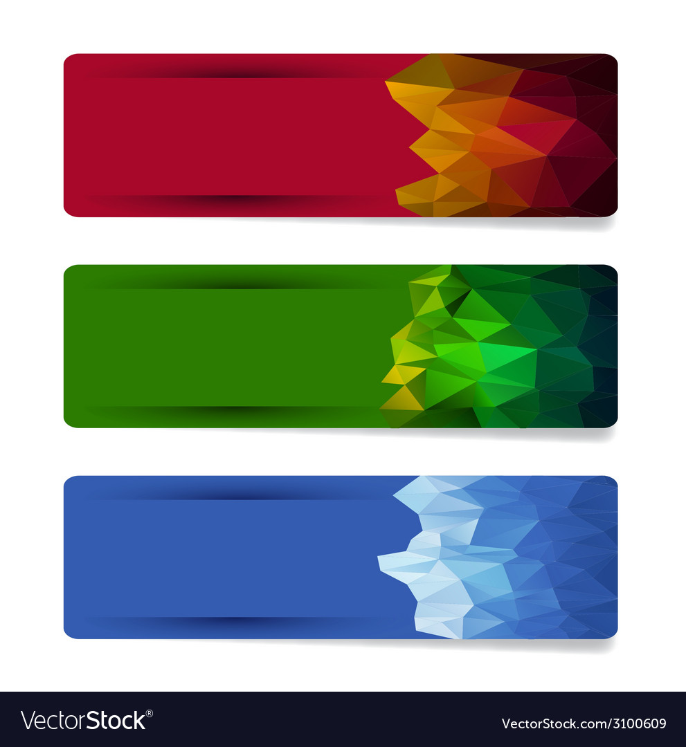 Banner set with geometric shape designs vector | Price: 1 Credit (USD $1)