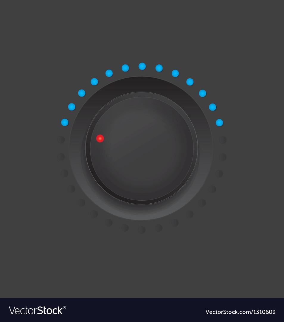 Black knob vector | Price: 1 Credit (USD $1)