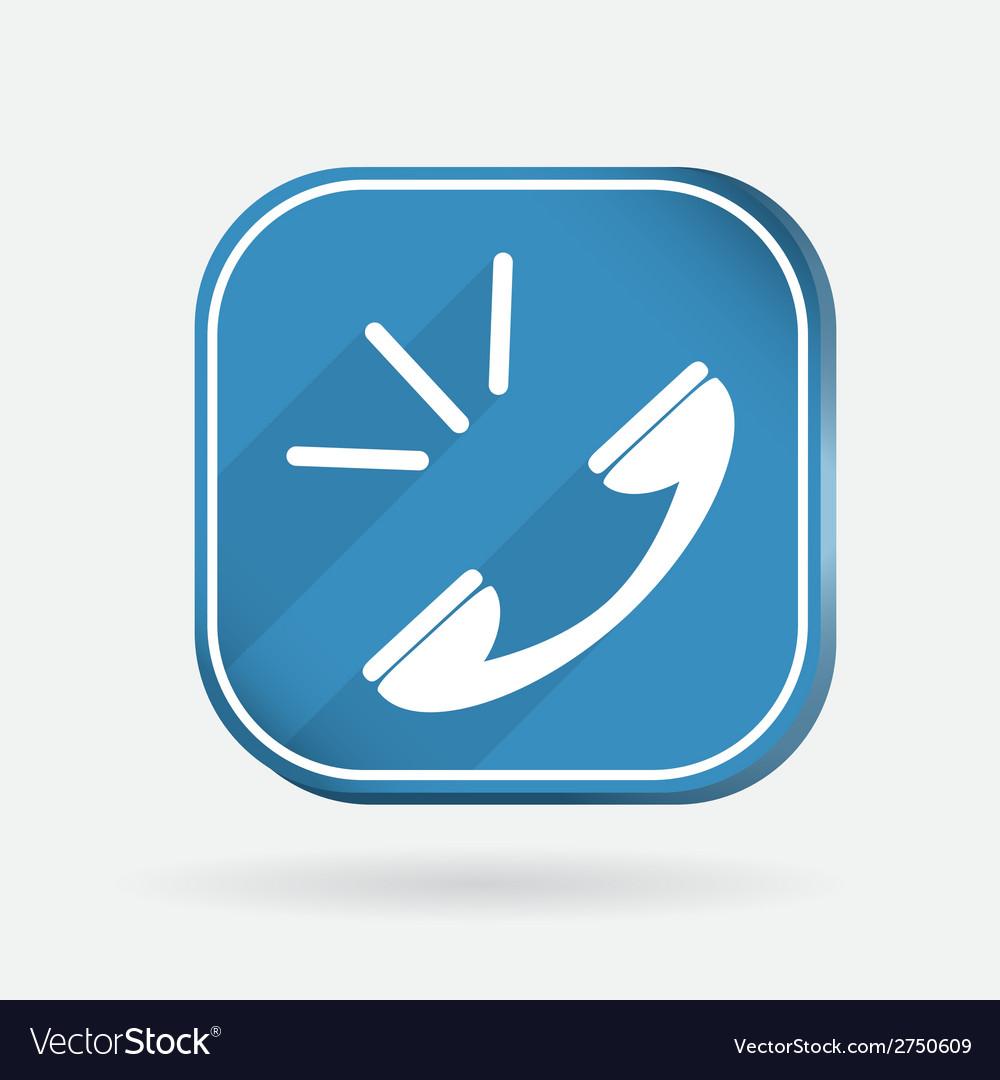 Call color square icon vector | Price: 1 Credit (USD $1)