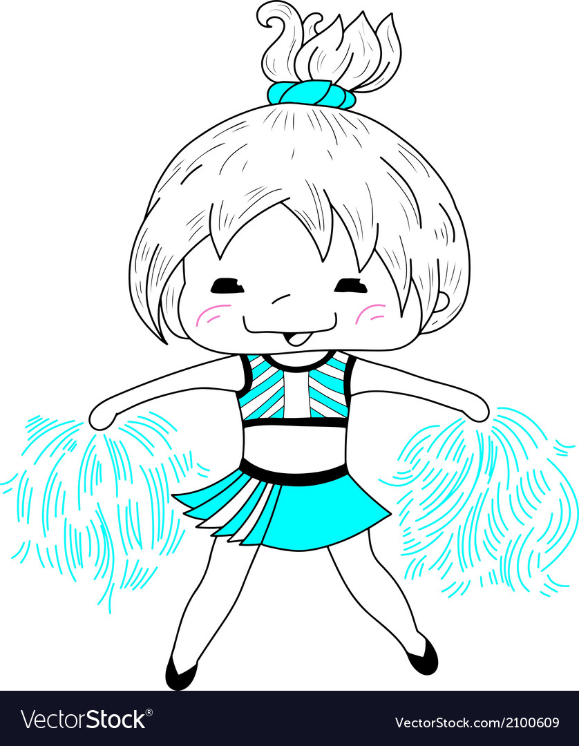 Cartoon cheerleader vector | Price: 1 Credit (USD $1)