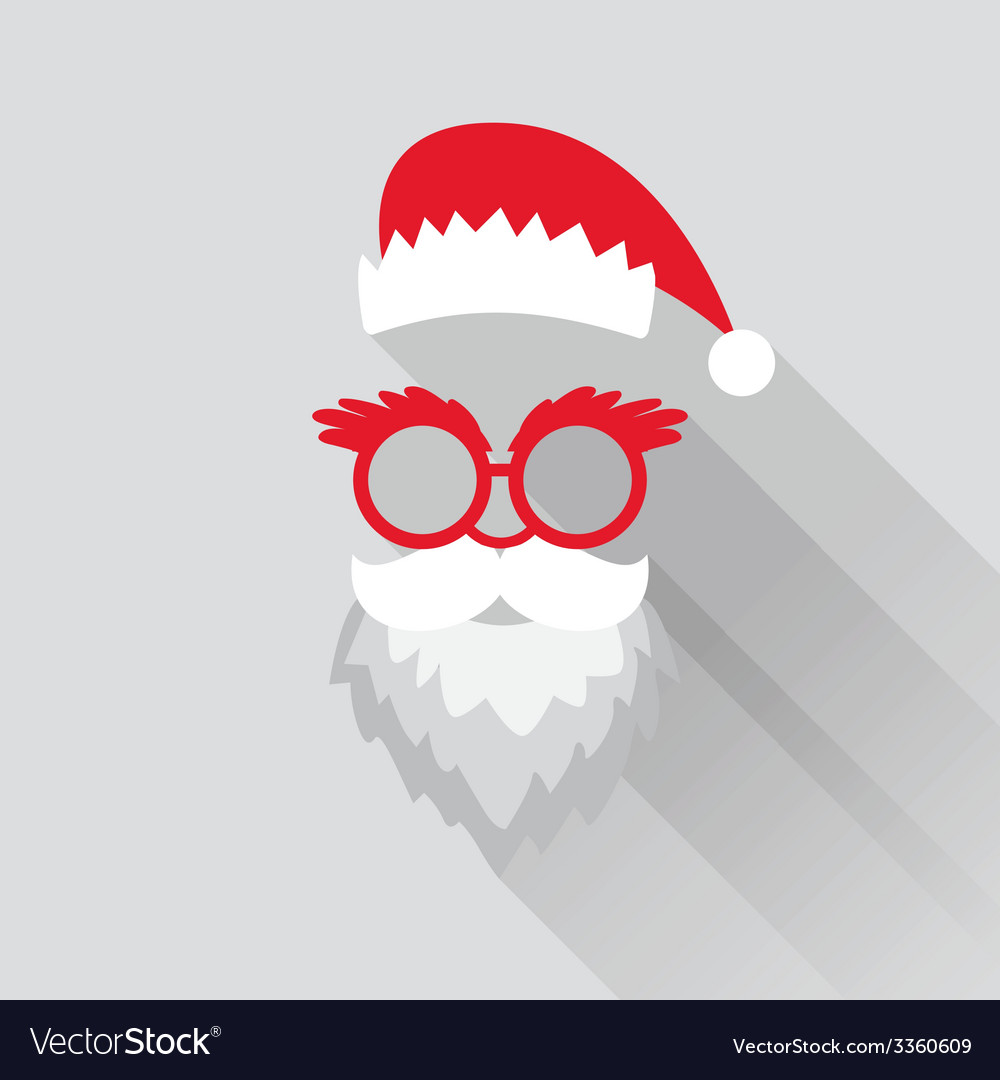 Christmas retro santa card vector | Price: 1 Credit (USD $1)