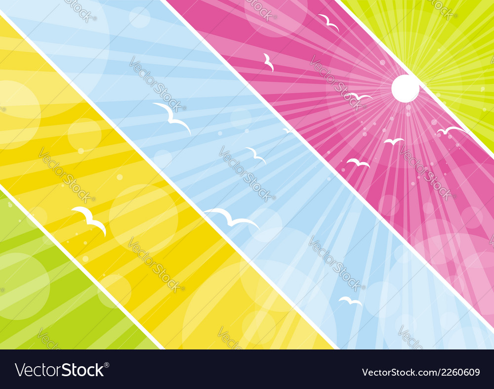 Color background with lovely decorative circles vector | Price: 1 Credit (USD $1)