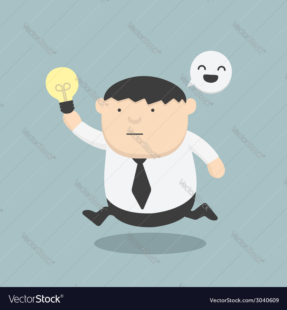 Fat business run show idea vector | Price: 1 Credit (USD $1)