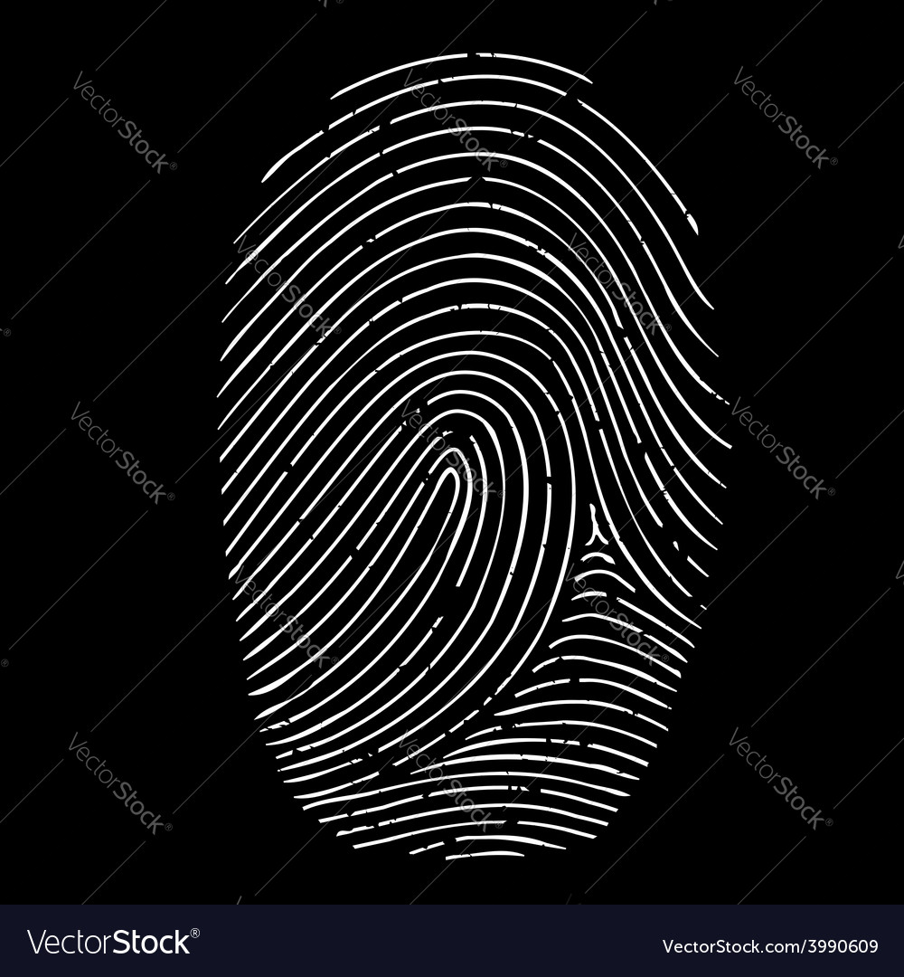Fingerprint isolated on a black background vector | Price: 1 Credit (USD $1)
